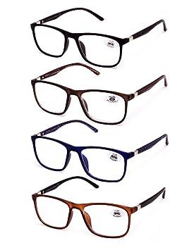 Pack de 4 lunettes de Lecture Vista fatiguée presbytes, lunettes de Homme  et Femme Unisexe be719dc85b7d