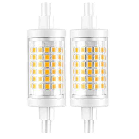 KDP Bombilla LED R7S LED 78MM, 7W equivalente a 70W, Blanco Cálido 3000K 700LM