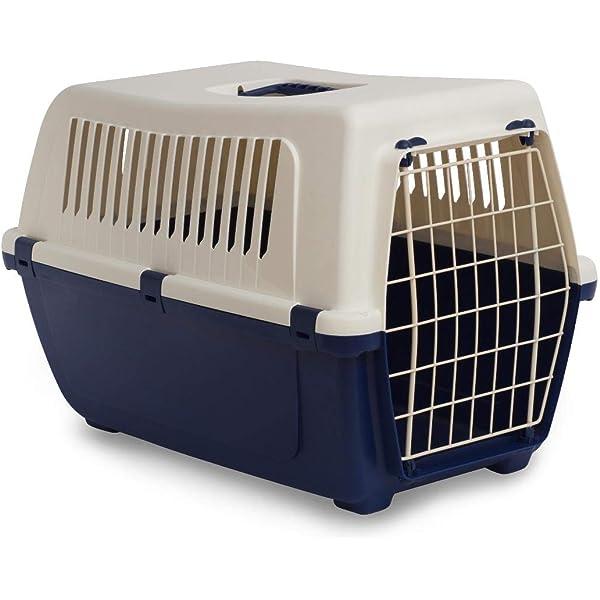 Nobleza - Transportín para Gatos Perros, Transportín de plástico L 68x48x42CM, transportador de Mascotas para Perros/Gatos/Avión Azul & Gris: Amazon.es: Productos para mascotas