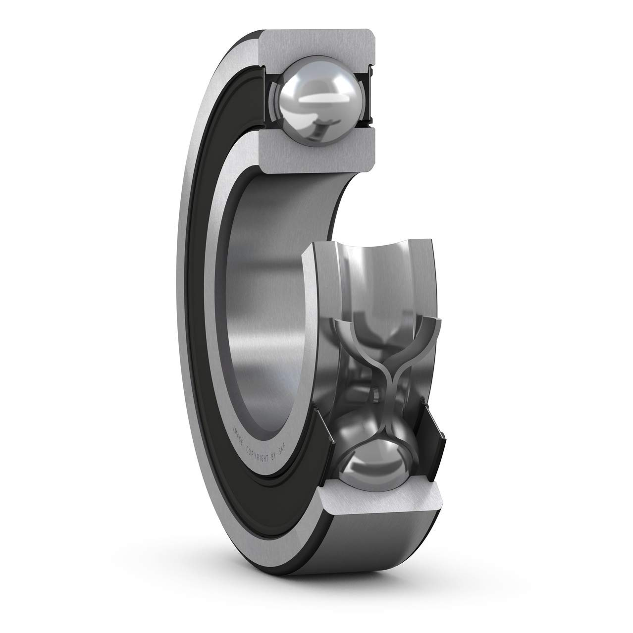 SKF - Rodamiento radial de ranura profunda, 3 ID, acero inoxidable
