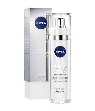 NIVEA PROFESSIONAL Ácido hialurónico, crema de noche facial, innovadora crema antiarrugas con ácido hialurónico, crema facial reafirmante para reducir las ...