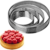 AICHEF Circular Stainless Steel Porous Tart Ring Bottom Tower Pie Cake Mould Baking Tools.French Baking Household…