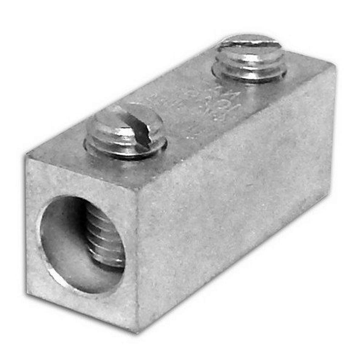 1 Hole Compression Connector Type 1//4 Stud Size 2 Awg Wire Range Morris 94221 Morris Products 94221 Long Barrel Compression Lug Copper