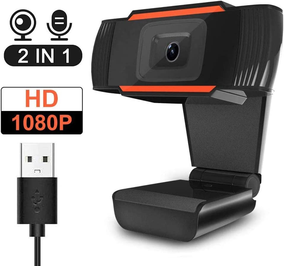 HD Wecam 1080P,PC Laptop Desktop Computer Web Camera with Microphone,Wide Angle USB Webcam for Skype YouTube Twitch OBS Game Streaming Video Conference