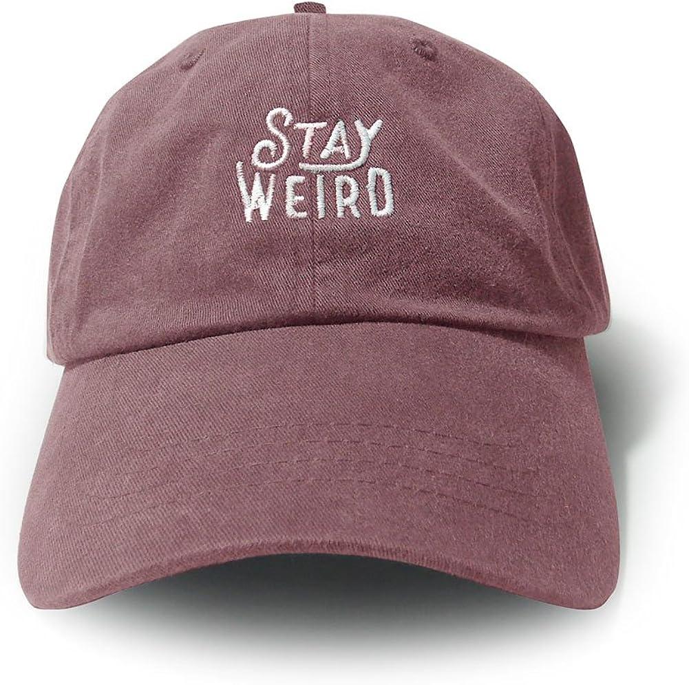 WUE Stay Weird Garment Washed Unisex Cap
