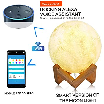 Amazon com: Moon Lamp [Upgraded Version], MADEMAX LED 3D