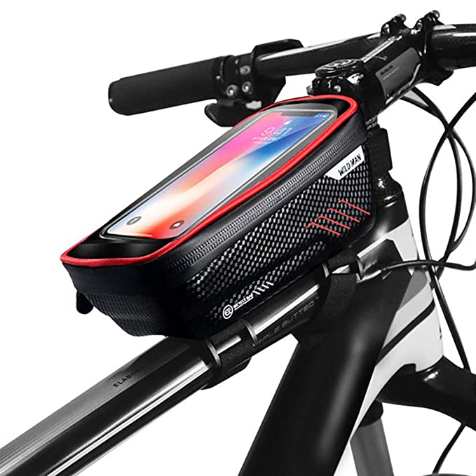 Mountain Bike Bag Rainproof Waterproof Front Bag 6.2inch Phone Handlebar Mount