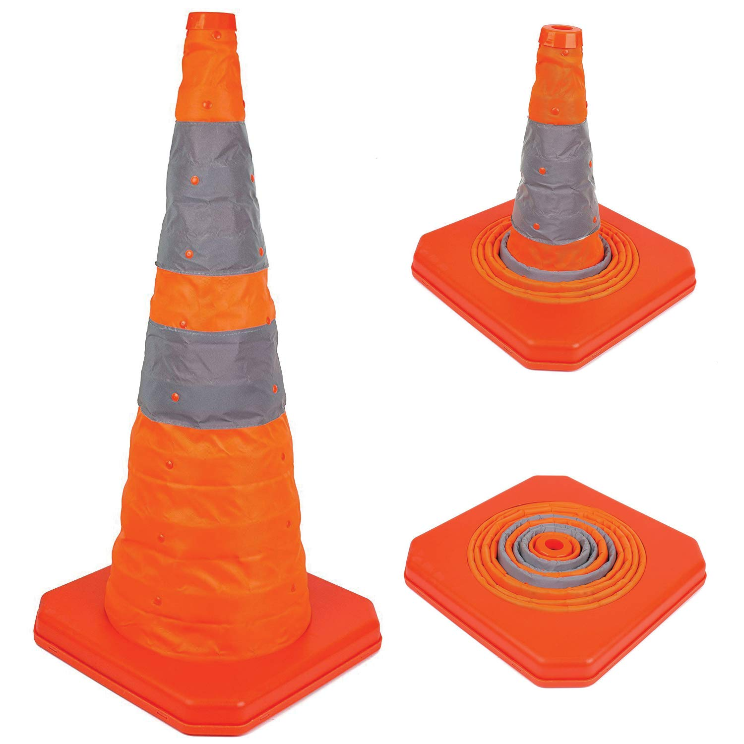 Troy Safety 28'' Collapsible Traffic Emergency Cone (1 Pack)