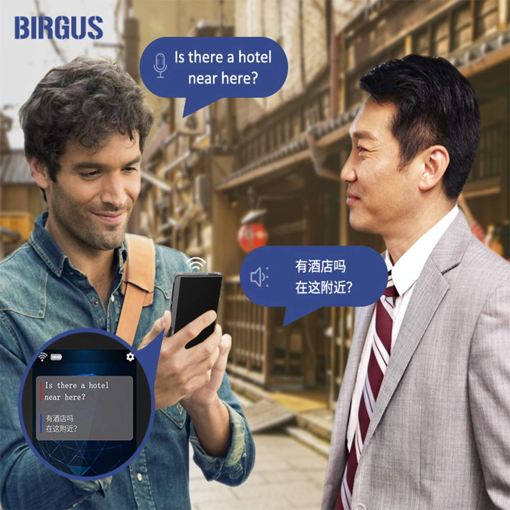 Birgus Smart Voice Translator Device,70 Languages Instant Two Way Translation with 2.4 Inch Touch Screen Portable for Travelling Learning Business Shopping Meeting by Birgus (Image #5)