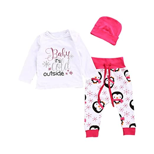 Amazon Com Baby Girls Clothes Jpoqw Tm Newborn Shirt Tops Penguin