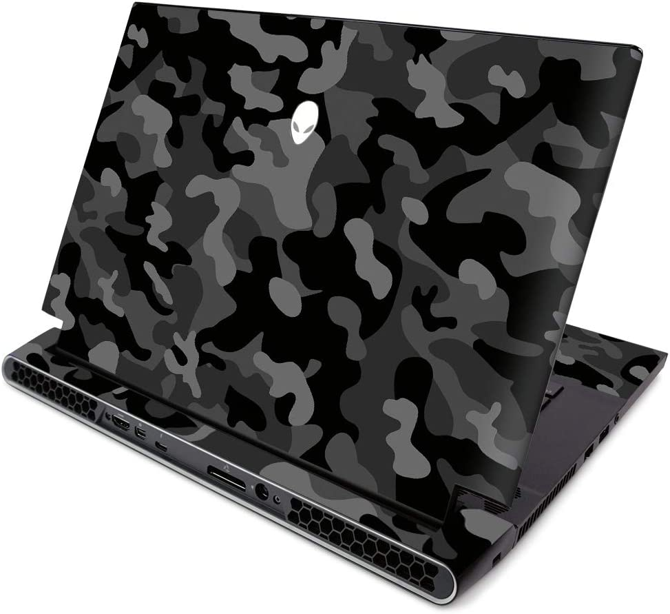 MightySkins Skin for Alienware M15 R2 (2019) - Black Camo | Protective, Durable, and Unique Vinyl Decal Wrap Cover | Easy to Apply, Remove, and Change Styles | Made in The USA