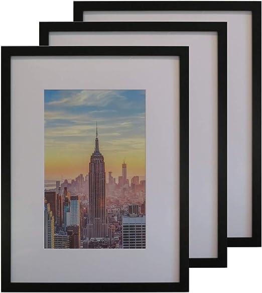 Desk//Wall Photo Frame Wood Rosewood//Black 11 x 14 DAX