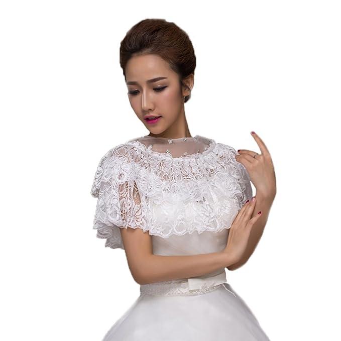 Bridal Lace Appliques Rhinestone Wrap Shrug Shawls Stole Boleros ...