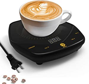 Mug Warmer, HX HECLX Coffee Warmer for Desk 25W Touch Switch Coffee Mug Warmer 4h Auto Shut Off Adjustable Temperature 131℉/149℉/167℉ Work from Home Accessories use for Office/Desk (Mug Not Included)