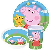 Peppa Pig wutz Niños Service con plato, cuenco