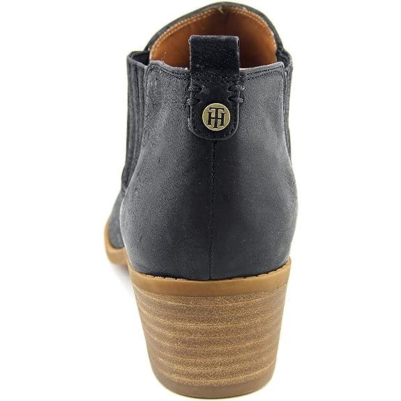 Tommy Hilfiger Mujeres Ripley Punta Almendra Botas de Moda, Black, Talla 9: Amazon.es: Zapatos y complementos