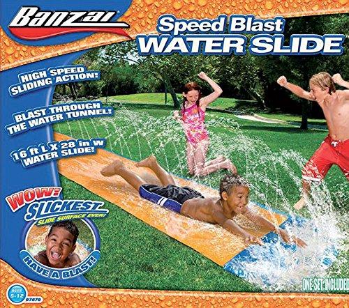 Banzai Wasserrutsche Wasserbahn Speed Blast mit Wassertunnel 488 cm