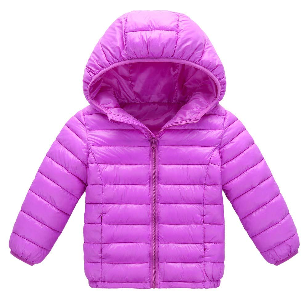 DIGOOD Teen Toddler Baby Girls Boys Winter Clothes,Hooded Wadded Down Jacket Coat,Kids Thick Snowsuit Keep Warm Cloak