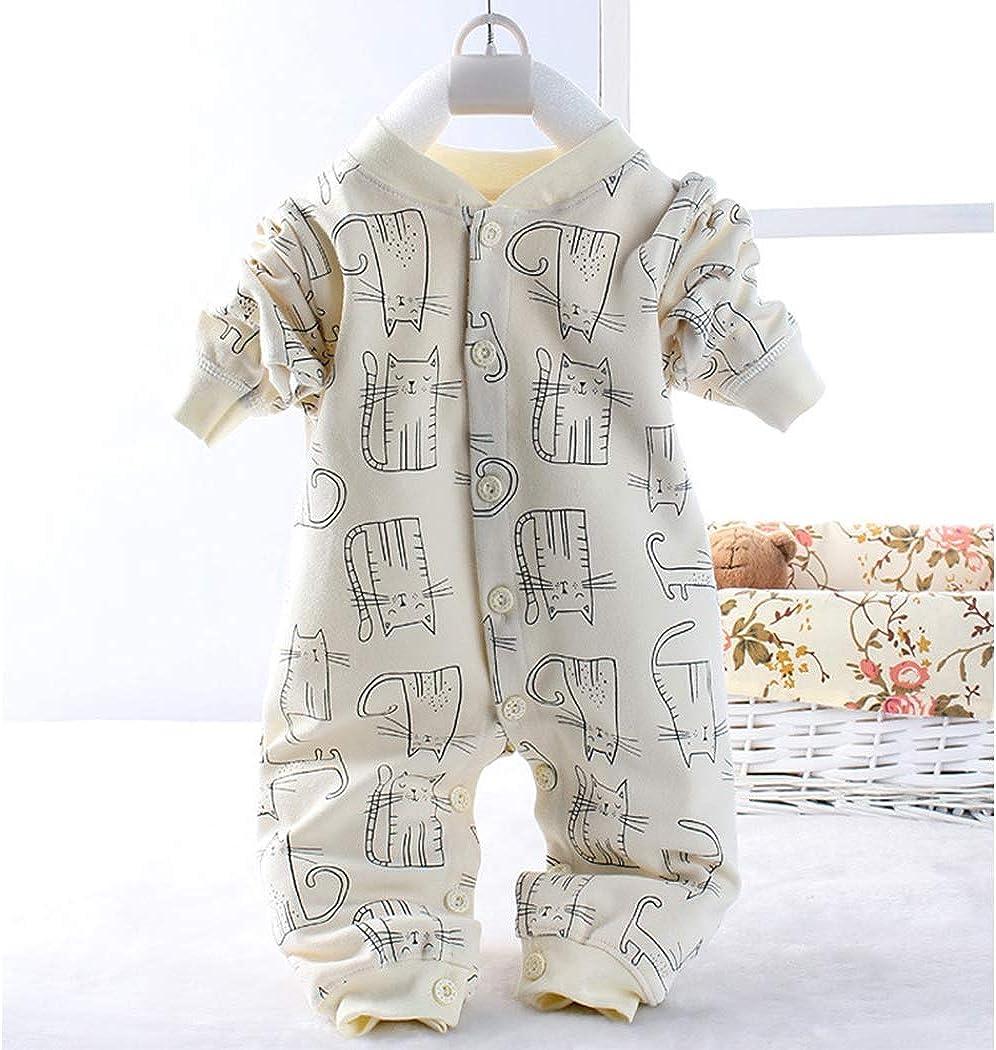Raylans Newborn Baby Boy Cat Print Outfits Infant Toddler Romper Jumpsuit Set