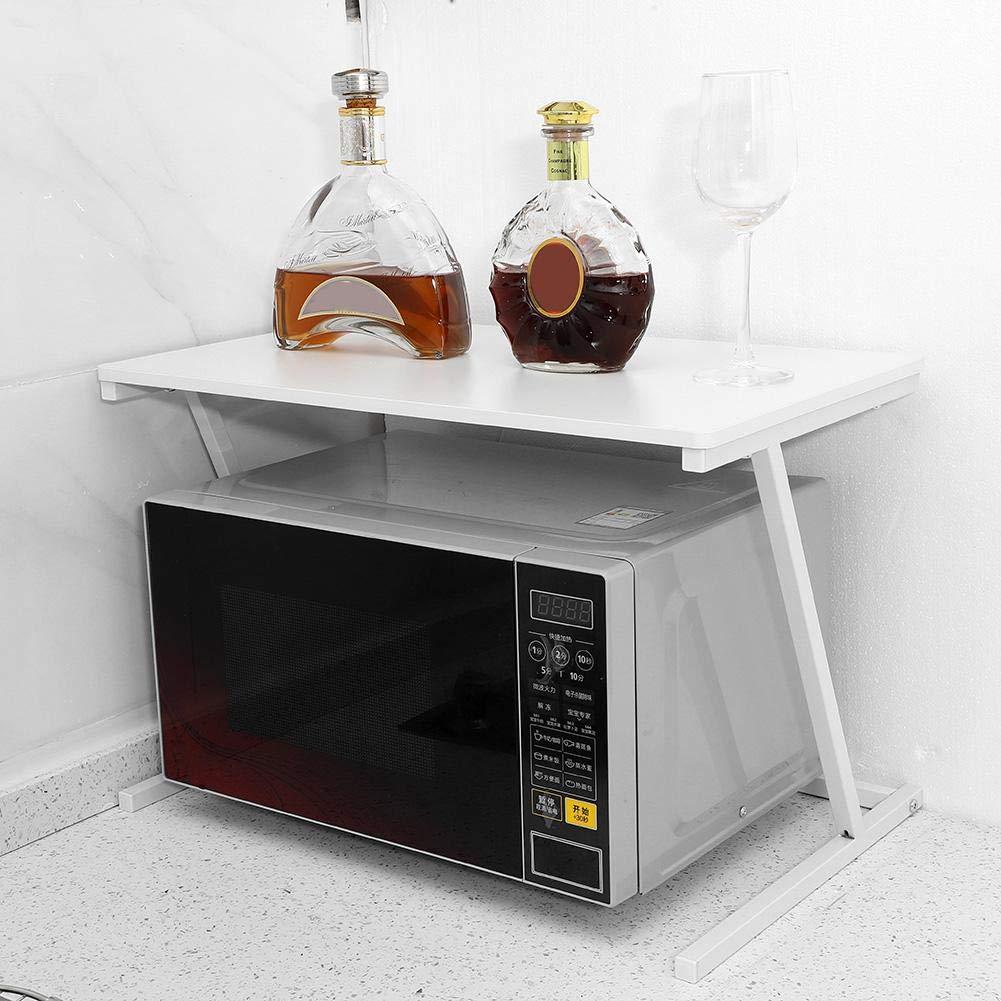 Noir Etag/ère Micro-ondes en M/étal Support de Four /à Micro-ondes Etag/ère de Cuisine Dessus Four /à Micro-Ondes Robuste Rangement pour Cuisine Multifonction Stable Durable 57 x 34 x 38 cm