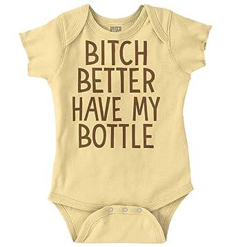 df95ee28e Brisco Brands Better Have My Bottle Funny Baby Humor Romper Bodysuit