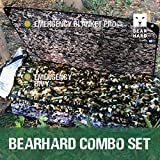 Bearhard Emergency Sleeping Bag Emergency Bivy Sack Ultralight Waterproof Thermal Survival Bivy Sack Bivvy Cover with Heat Retention for Camping, Hiking and Emergency Shelter Camo