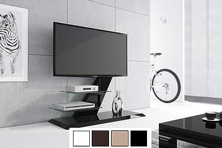 Mesa de Televisión Hz de 111 Negro Brillante TV Muebles TV Rack ...