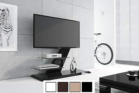 Mesa de Televisión Hz de 111 Negro Brillante TV Muebles TV Rack LCD Incluye soporte de TV: Amazon.es: Hogar