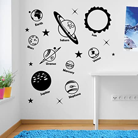 Solar system space astronomy planets 02 wall decorations window stickers wall decor wall stickers wall
