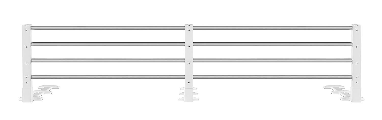Reer 4504 - Barandilla metálica para la cama, altura ajustable (para colchones de 80-140 cm), color blanco: Amazon.es: Bebé