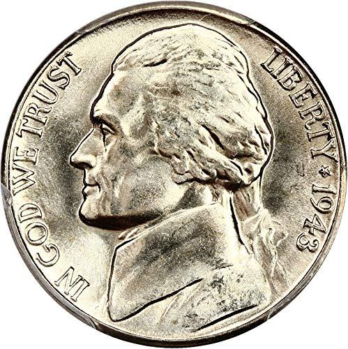 1943 D Jefferson Nickels Nickel MS66 PCGS ()