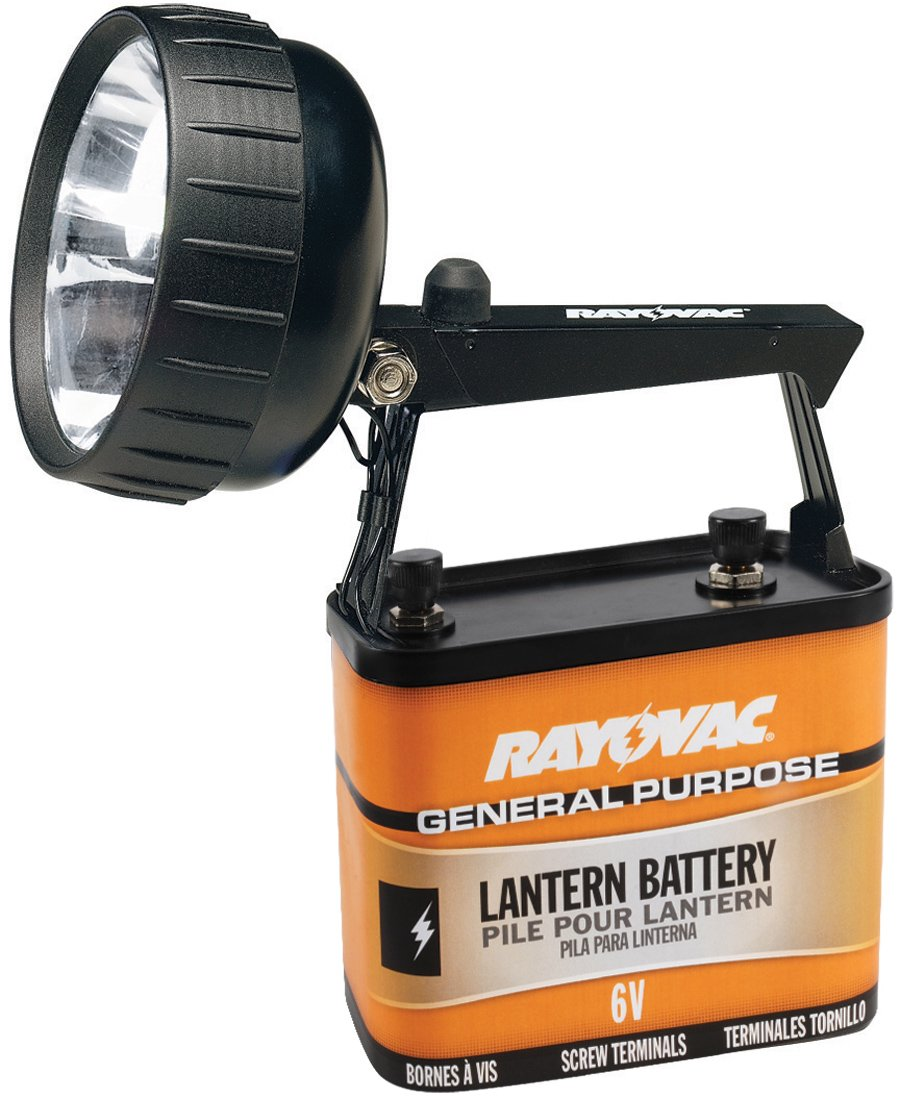 RAYOVAC Industrial Grade 75 Lumen 6-Volt Krypton Beam Lantern with Battery, 301K-A