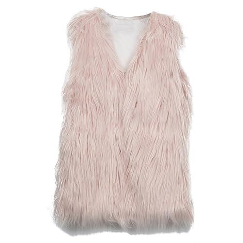 kootk Chaleco Invierno Se?ora Faux Fur Vest Waistcoat Outwear