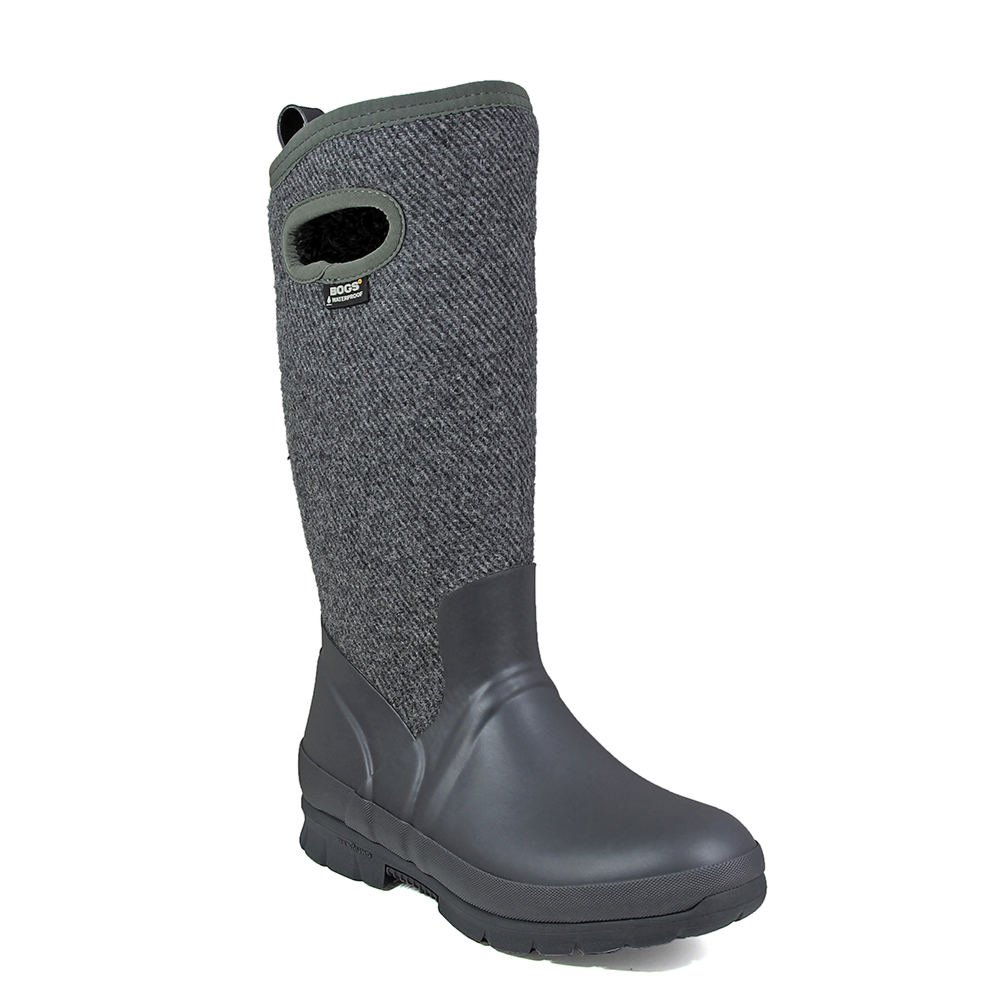 Bogs Womens Crandall Wool Rain Boot B01N14OFZU 10 B(M) US|Dark Gray