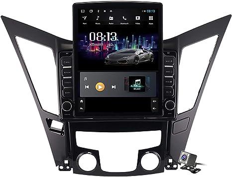 Gokiu Android 9.1 Pantalla Vertical de 9,7 Pulgadas GPS Navegador Coche para Hyundai Sonata 8 2011-2015 - FM Radio del Coche, Conexión a Internet, Soporte DSP DVR/Llamadas Manos Libres,Ts400: Amazon.es: Deportes y