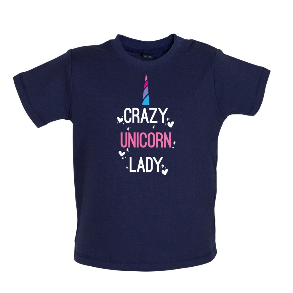 Crazy Unicorn Lady Baby//Toddler T-Shirt 3-24 Months