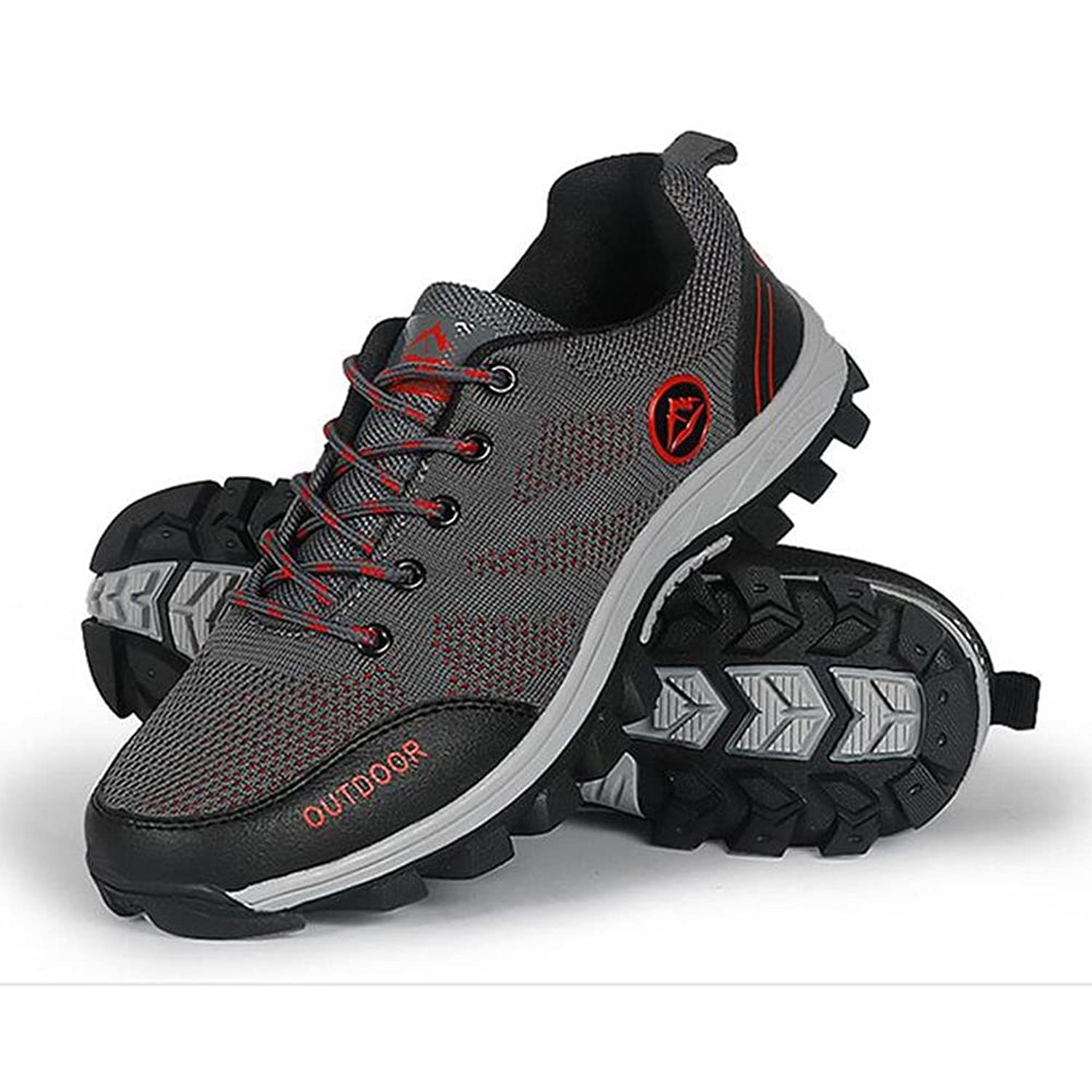 Men's hiking shoes outdoor sports casual shoes mesh breathable non-slip  wear shoes walking shoes, grey, 41: Amazon.co.uk: Shoes & Bags
