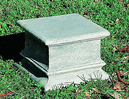 Cast Campania Pedestal Stone - Campania International PD-38-GS Plain Quadro Pedestal, Grey Stone Finish