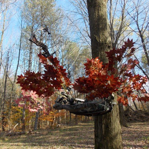 Review High Point Products Camouflage Leaf Cover for Tree Stand, Hunting, Archery, no tools required