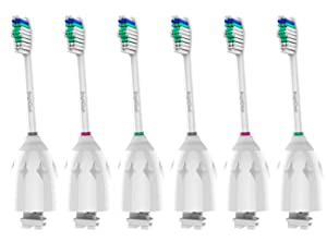 BrightDeal Replacement Brush Heads Compatible with Philips Sonicare E-Series HX7022/66, 6pack, for Sonicare Essence, Xtreme, Elite, Advance, and CleanCare Electric Toothbrush