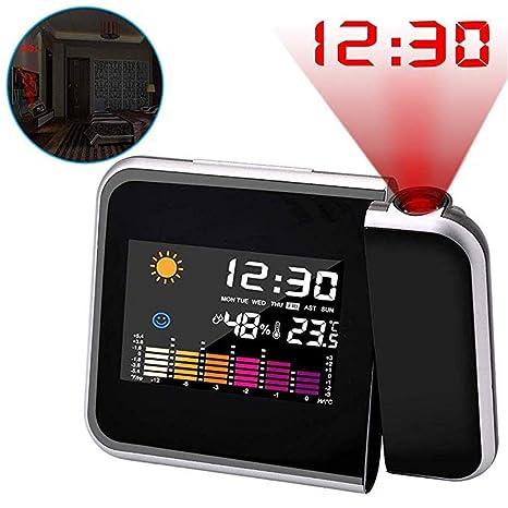 NSCHJZ Reloj Despertador de proyección, Relojes proyector Digital ...