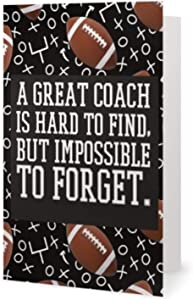 Football Coach Card, Great Coach is Hard to Find and Impossible to Forget, Football Coach Gift