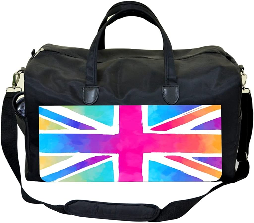 Colored British Flag Print Sports Bag