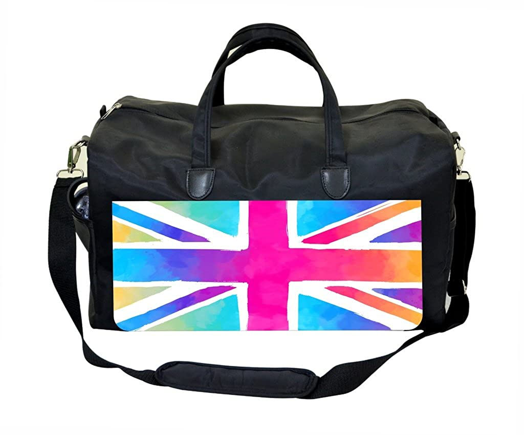 Colored British Flag Print Weekender Bag