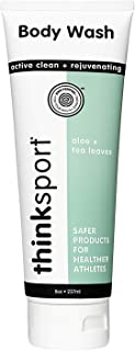 product image for Thinksport EWG Verified Body Wash For Men & Women | Free of parabens, phthalates, 1,4 dioxane & toxic chemicals | Ingredient Safety Transparency - Aloe & Tea Leaves, 8oz (TUBODYWAT)