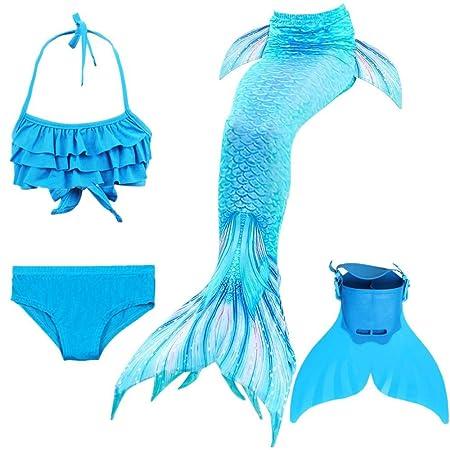 KJGFD Sirena Cola de natación para niñas niños Disfraces ...
