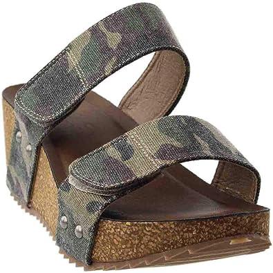 a3c4a3bf9987 Corkys Footwear Womens Dina Wedge Sandal (7