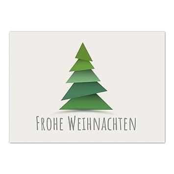 Moderne Weihnachtskarten.Weihnachtskarte Mit Motiv Grafisch Moderner Tannenbaum Mit
