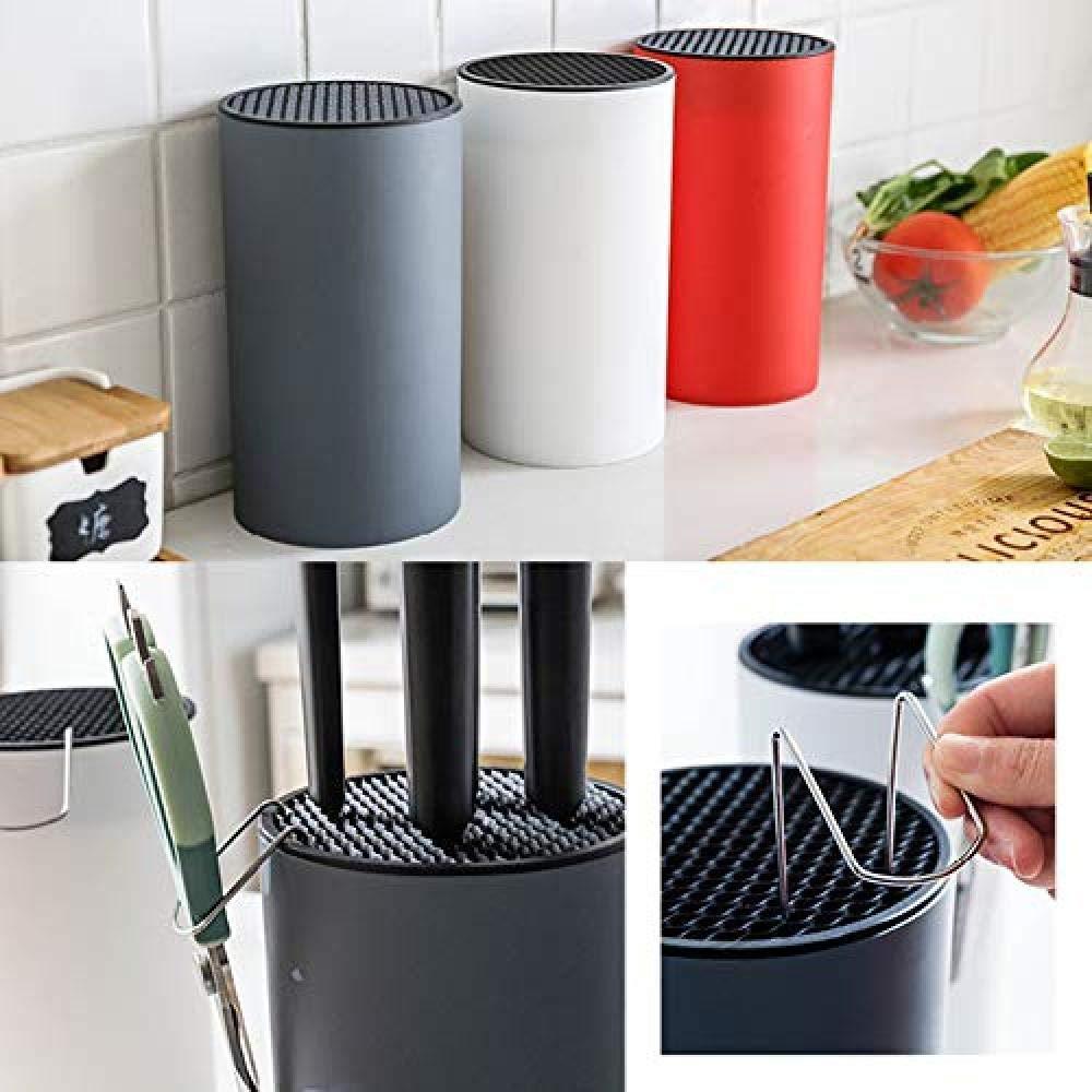 Taco para cuchillos de cocina Soporte de herramientas de almacenamiento Estilo n/órdico de moda Material de PP Organizador de bastidor para almacenamiento Accesorios de cuchillos,Blanco