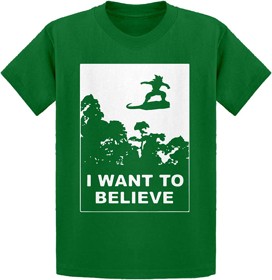 Indica Plateau I Want to Believe Nimbus Fighter Kids T-Shirt